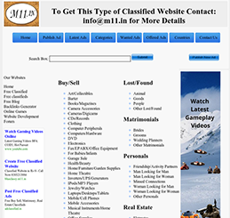 Blue Classy Classified Script SEO Friendly Version